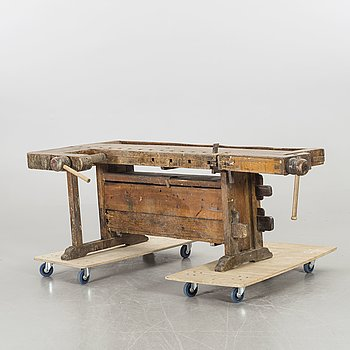A Swedish 19th century workbench.