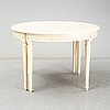 A gustavian style dining table, second half of the 20th century. 3 leaves included