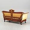 A swedish empire sofa, first half of the 19th century.