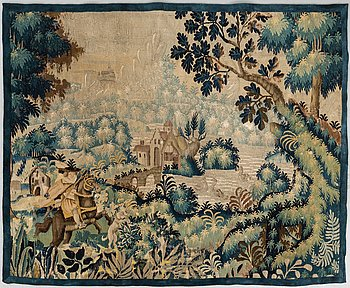 A TAPESTRY FRAGMENT, tapestry weave, ca 143 x 180 cm, Flanders 17th century - around 1700.