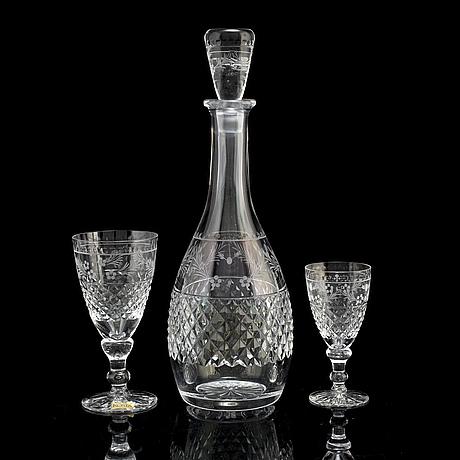 Fritz kallenberg, 26 glasses 'elvira madigan' kosta and kosta boda, 20th century