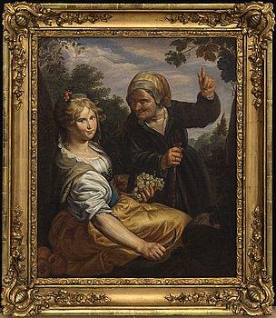 PAULUS MOREELSE, efter, olja på duk. 1800-talets första hälft.
