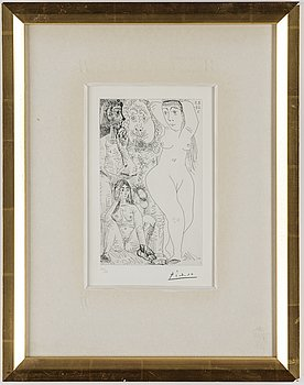 PABLO PICASSO, aquatint and drypoint, signed and numbered 30/50.