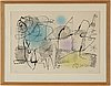 Joan mirÓ, lithograph, signed and numbered 34/100.