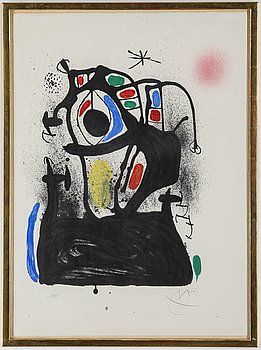 JOAN MIRÓ, lithograph, signed and numbered 57/75.