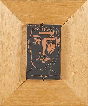 PABLO PICASSO, a ceramic relief a tergo signed 456/500 Madoura. France 1966.