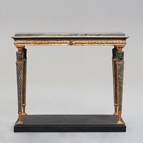 A late gustavian console table, early 18th century.