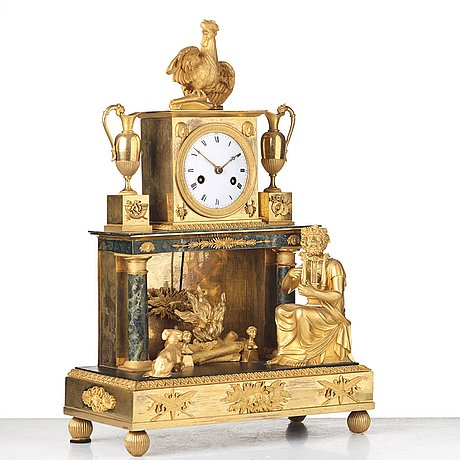 A french empire early 18th century mantel clock