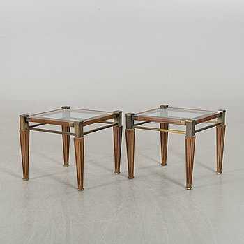 A PAIR OF SIDE TABLES CA 2000.