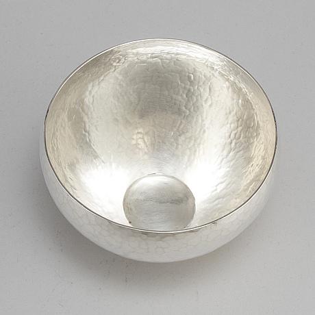 Rey urban, a sterling silver bowl, stockholm 1971