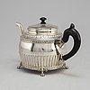 Israel sundstrÖm, a silver teapot, stockholm 1912