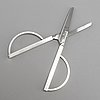 Wiwen nilsson, a pair of stering silver scissors, lund 1968