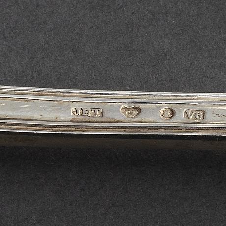 """Je torsk. bestickuppsättning, 52 delar, silver """"snäckan"""". stockholm, bl a 1899"""