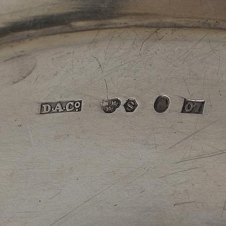 Fat, 2 st, silver. g.a. dahlgren malmö samt david andersen & comp stockholm 1916