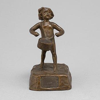 ALICE NORDIN, sculpture, bronze, signed.