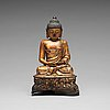 A seated bronze figure of buddha, ming dynasty (1368-1644).