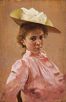 334. Gunnar Berndtson, Elegant lady in pink.