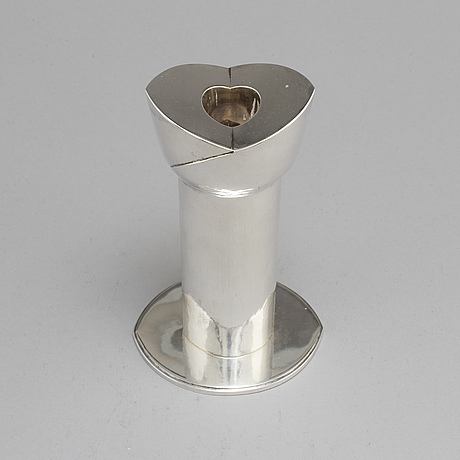 Sigurd persson. a sterling silver candlestick, stockholm 1975