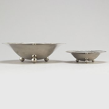 Two silver bowls by WA BOLIN, Stockholm 1931.