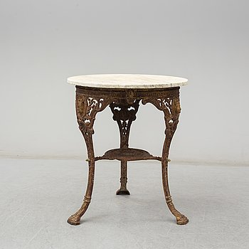 a garden table by Gaskell & Chambers. late 19th century.