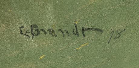 Carl brandt, pastell, signerad c. brandt och daterad 98