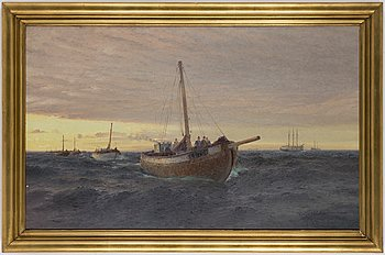 EMIL EKMAN,oil on canvas, signed.
