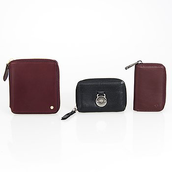 MULBERRY, Key holder, Zip around small wallet and purse.