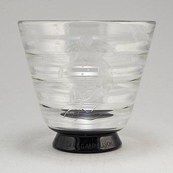 SIMON GATE, a model 1133 glass vase from orrefors, 1932.