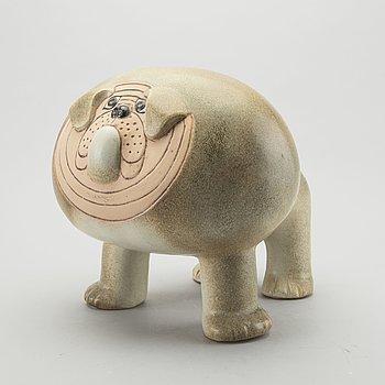 "LISA LARSON, A ""Bulldog Maxi"" stoneware figurine."
