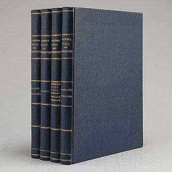 BOKVERK, Svenska Slott och Herresäten, 4 volymer, Natur och Kultur, Stockholm, 1930-tal.