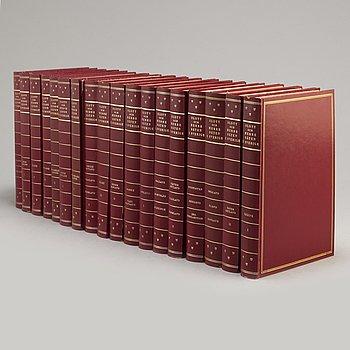 BOKVERK, 18 volymer, Slott och Herresäten i Sverige, Allhems Förlag, Malmö, 1960-tal.