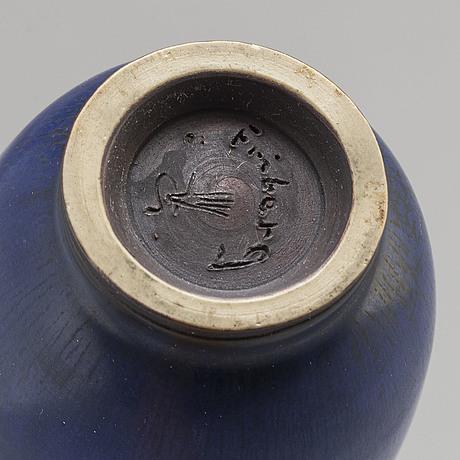 Berndt friberg, a stoneware vase, gustavsberg studio, signed.