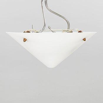 Uno & Östen Kristiansson, a plexi glass and teak ceiling light, model 539, Luxus, Sweden, second half of 20th century.