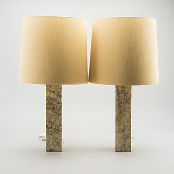 A PAIR OF TABLE LAMPS BY BERGBOMS 1960'S.