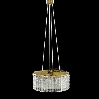 CARL FAGERLUND, taklampa, Orrefors, 1900-talets mitt,