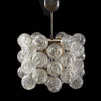 A 1950's ceiling lamp by Doria Lichtenwerken, Austria.