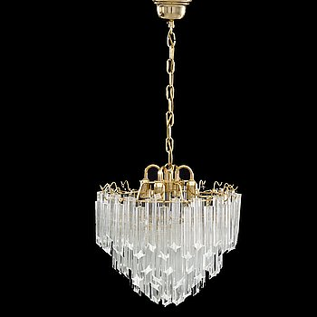 AN MURANO CEILING LAMP SECOND HALF OF 20TH CENTURY,