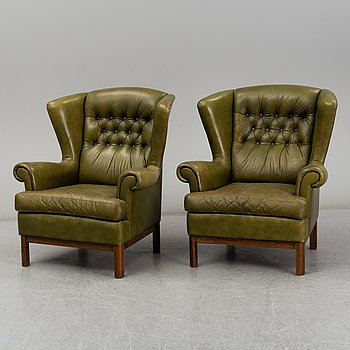 A pair of second half of the 20th century easy chairs.