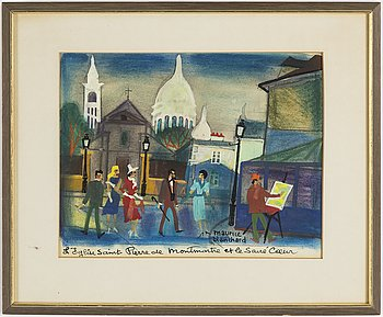 MAURICE BLANCHARD, gouache, signed.
