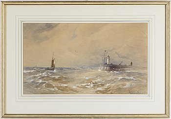 GUSTAVE DE BREANSKI, a pair of watercolour, signed.