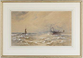GUSTAVE DE BREANSKI, akvareller, ett par, signerade.