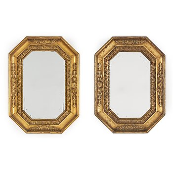 A pair of mid 19th century mirrors.