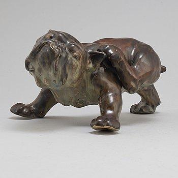"""PAUL RENÉ GAUGUIN, figurin, porslin, """"Bulldog"""", Bing & Grøndal, Köpenhamn, Danmark."""
