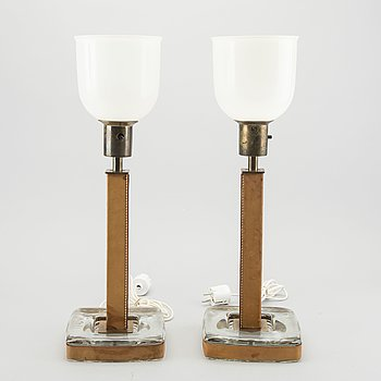 A PAIR OF TABLE LAMPS BY BÖHLMARKS, MODEL 15773, SECOND HALF OF 20TH CENTURY.