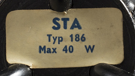 A 1950's floor lamp model 186, ab stilarmatur, tranÅs, sweden.