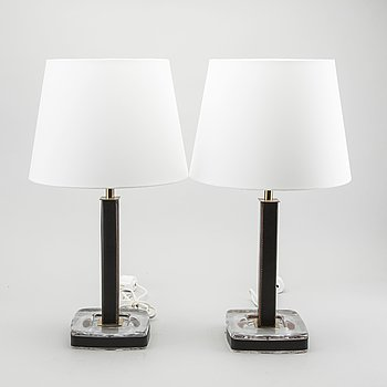 A PAIR OF TABLE LAMPS BY UPPSALA ARMATUR, SWEDEN SECOND HALF OF 20TH CENTURY.