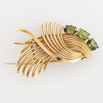 Tourmaline brooch.
