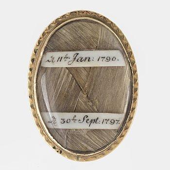 Mourning hair ring.