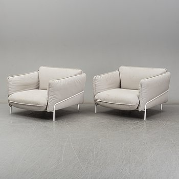 """CLAESSON KOIVISTO RUNE, armchairs, a pair, """"Continental"""", Swedese. 21th century."""