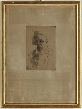 ANDERS ZORN, etching, 1912, signed.
